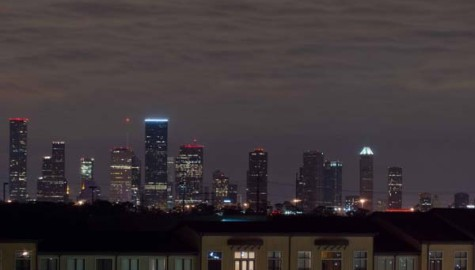 Houston after dark